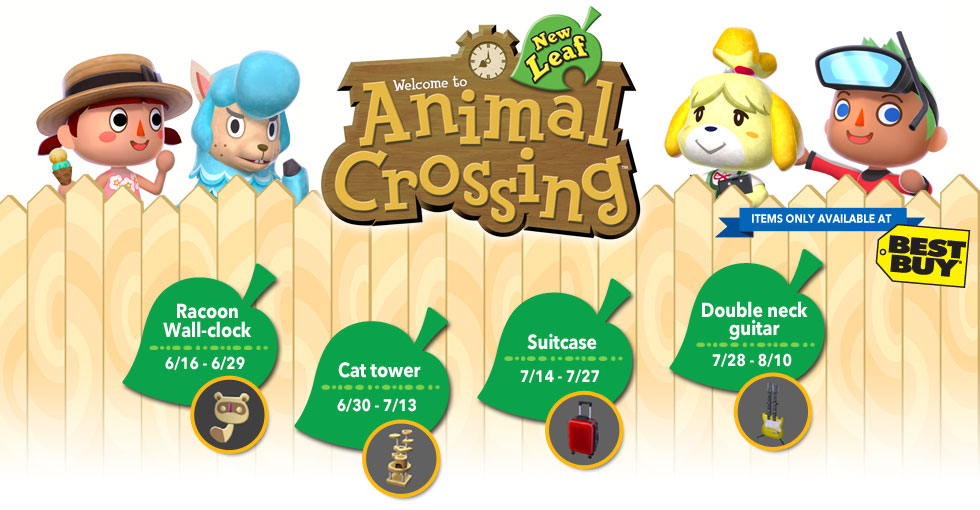 Additional Details On The Best Buy Exclusive Animal Crossing New Leaf Items Revealed Animal Crossing World