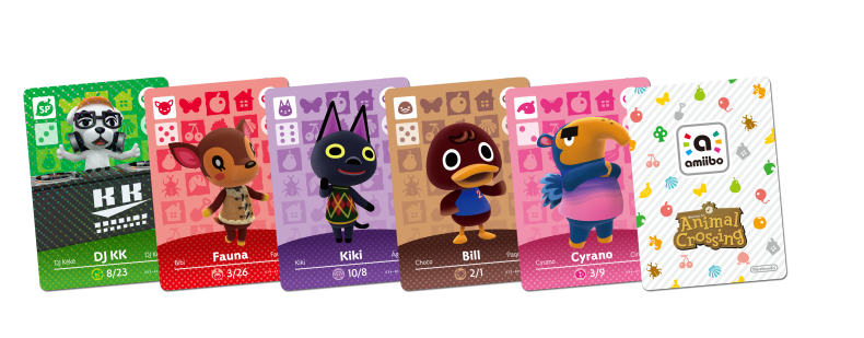 Animal crossing amiibo cards lists information animal - Happy home designer amiibo figures ...