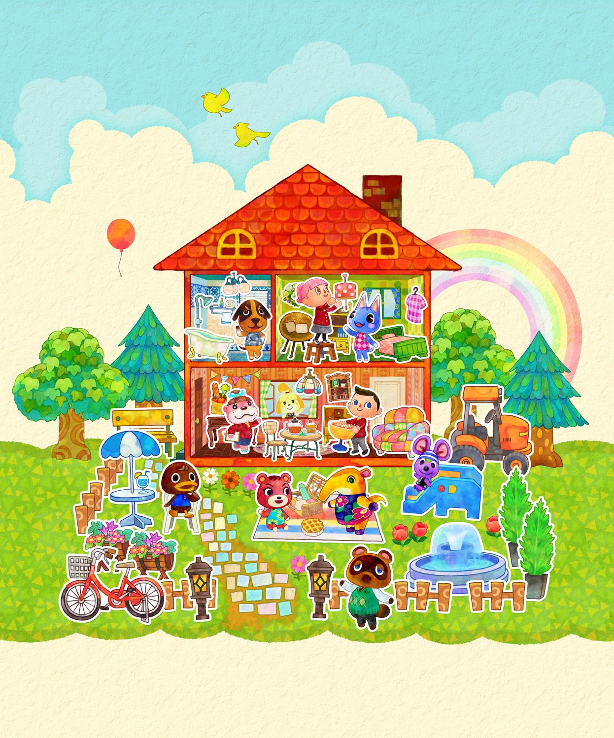 New Collection Of Official Animal Crossing Happy Home Designer Artwork Released 06 02 2015