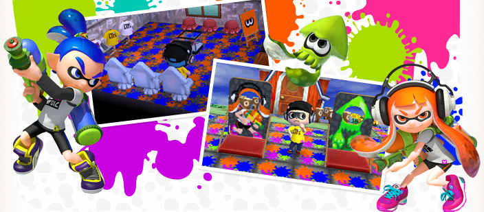 be a squid and a kid in the updated splatoon nintendo dream village