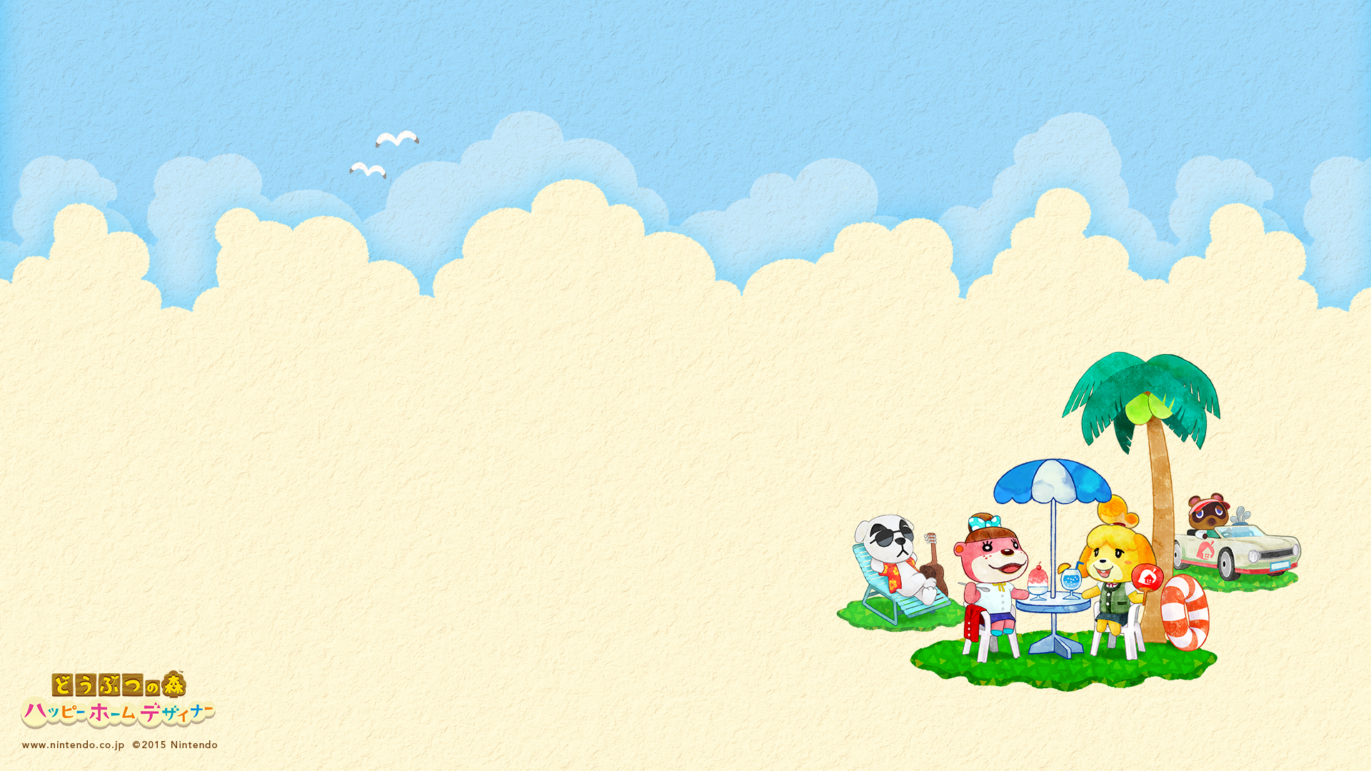 Cute summer Animal Crossing: Happy Home Designer wallpapers from ...