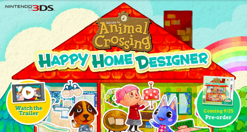animal crossing happy home designer website opens and initial advertising begins in north america - Home Designer Website