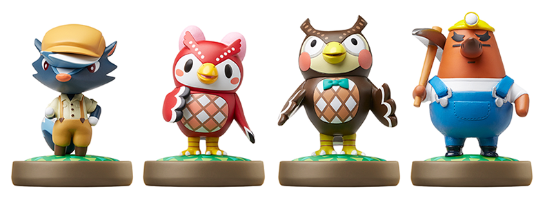 Second Wave Of Animal Crossing Amiibo Figures Coming To Japan On December 17th Blathers Celeste