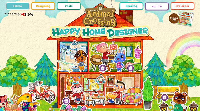 complete animal crossing happy home designer website live for north america includes wallpapers - Home Designer Website