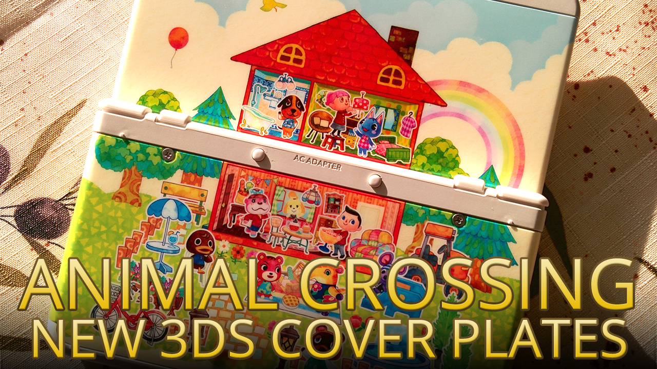 Video a look at the animal crossing cover plates in the - Animal crossing happy home designer bundle ...