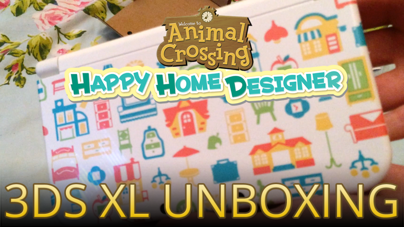 Video Unboxing The Animal Crossing Happy Home Designer New 3ds Xl System Animal Crossing World