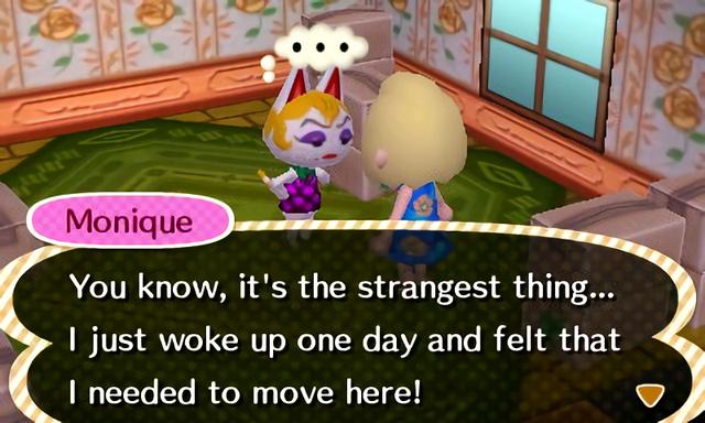 Animal Crossing Monique Happy Home Designer