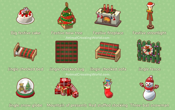 Christmas Items.Holiday Christmas Event Complete Guide Animal Crossing