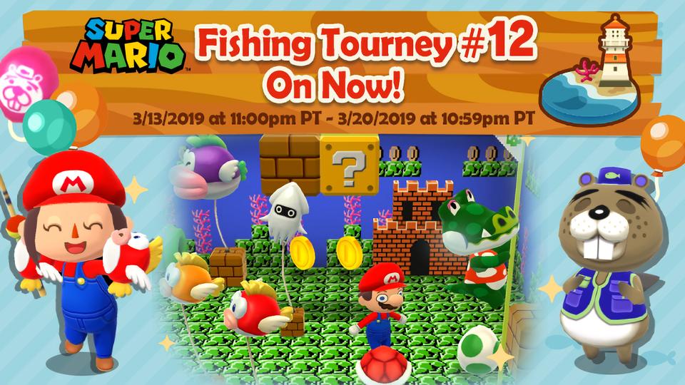 Super Mario Fishing Tourney Event, Super Mario Furniture Animal Crossing