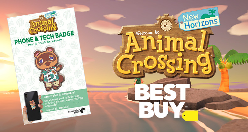 Tom Nook Phone Badge Pre Order Bonus For Animal Crossing New Horizons At Best Buy Usa Animal Crossing World