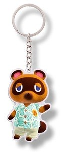 Animal Crossing Tom Nook New Horizons Badge Reel or Key Chain or Necklace
