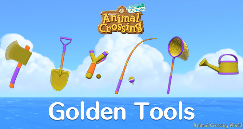 Golden Tools How To Unlock Golden Axe Shovel Watering Can Fishing Rod Net In Animal Crossing New Horizons