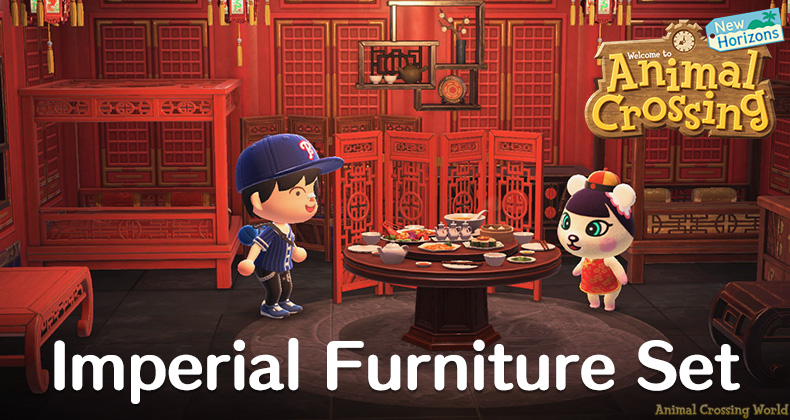 Imperial Furniture Set All Items Variations In Animal Crossing