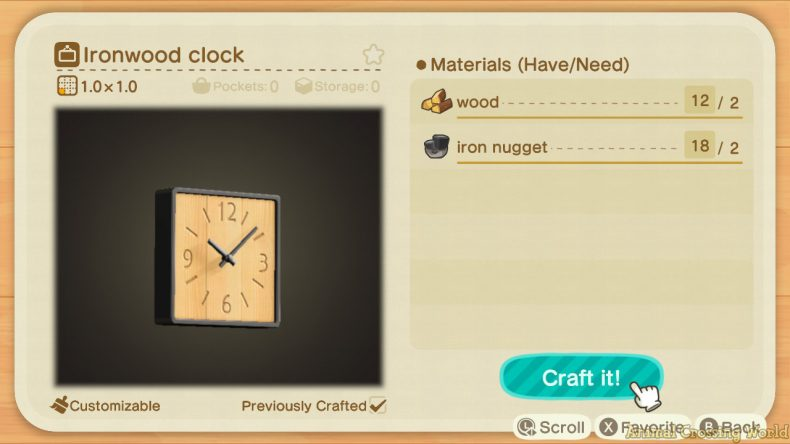 Ironwood Furniture Set: How to Craft & Get All Items ... on Ironwood Dresser Animal Crossing  id=86789