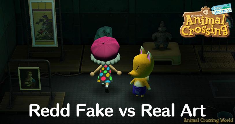 Redd S Paintings Statues Real Vs Fake Art Guide For Animal Crossing New Horizons