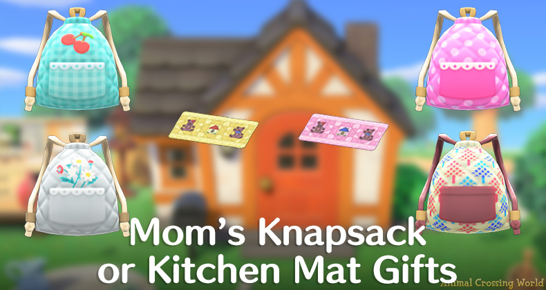 Which Mom's Knapsack or Kitchen Mat Did You Get? Check Out ... on Kitchen Items Animal Crossing  id=70682