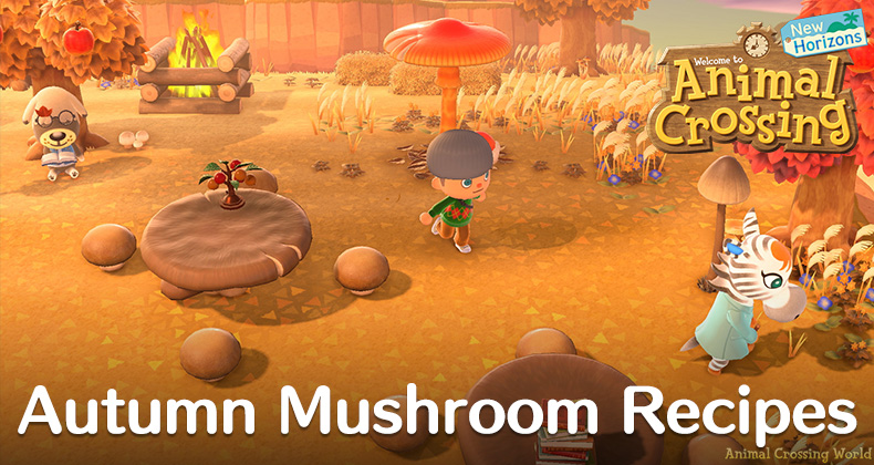 Mushroom Diy Crafting Recipes How To Get Them In Animal Crossing New Horizons