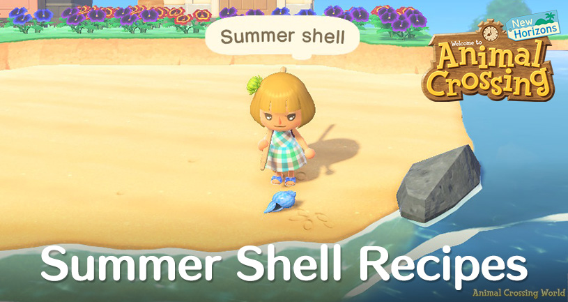 Summer Shells Diy Crafting Recipes How To Find Get Them Sell Price In Animal Crossing New Horizons