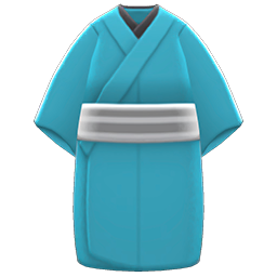 Casual Kimono Item with Aqua Variation in Animal Crossing: New Horizons