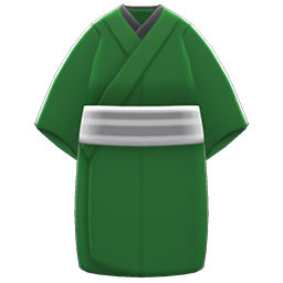 Casual Kimono Item with Green Variation in Animal Crossing: New Horizons