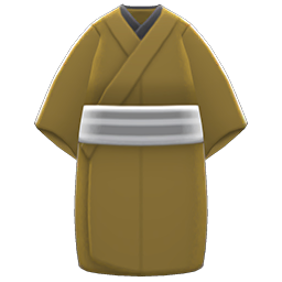 Casual Kimono Item with Mustard Variation in Animal Crossing: New Horizons