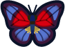 Animal Crossing: New Horizons Agrias Butterfly Bug