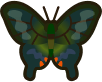 Animal Crossing: New Horizons Peacock Butterfly Bug