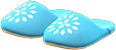 Babouches Item with Blue Variation in Animal Crossing: New Horizons