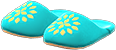 Babouches Item with Mint Variation in Animal Crossing: New Horizons