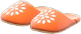 Babouches Item with Orange Variation in Animal Crossing: New Horizons