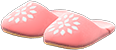 Babouches Item with Pink Variation in Animal Crossing: New Horizons