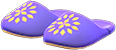 Babouches Item with Purple Variation in Animal Crossing: New Horizons