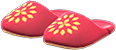 Babouches Item with Red Variation in Animal Crossing: New Horizons