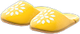Babouches Item with Yellow Variation in Animal Crossing: New Horizons