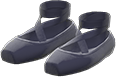 Ballet Slippers Item with Black Variation in Animal Crossing: New Horizons