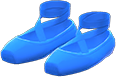 Ballet Slippers Item with Blue Variation in Animal Crossing: New Horizons