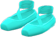 Ballet Slippers Item with Mint Variation in Animal Crossing: New Horizons