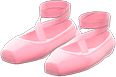 Ballet Slippers Item with Pink Variation in Animal Crossing: New Horizons
