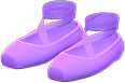 Ballet Slippers Item with Purple Variation in Animal Crossing: New Horizons