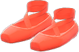 Ballet Slippers Item with Red Variation in Animal Crossing: New Horizons