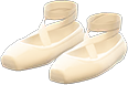Ballet Slippers Item with White Variation in Animal Crossing: New Horizons