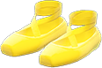 Ballet Slippers Item with Yellow Variation in Animal Crossing: New Horizons