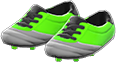 Cleats Item with Green Variation in Animal Crossing: New Horizons