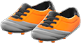 Cleats Item with Orange Variation in Animal Crossing: New Horizons