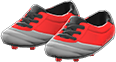 Cleats Item with Red Variation in Animal Crossing: New Horizons