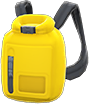 Dry Bag Item with Yellow Variation in Animal Crossing: New Horizons