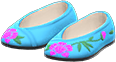 Embroidered Shoes Item with Blue Variation in Animal Crossing: New Horizons