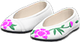 Embroidered Shoes Item with White Variation in Animal Crossing: New Horizons
