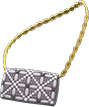 Evening Bag Item with Black Variation in Animal Crossing: New Horizons