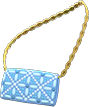 Evening Bag Item with Blue Variation in Animal Crossing: New Horizons